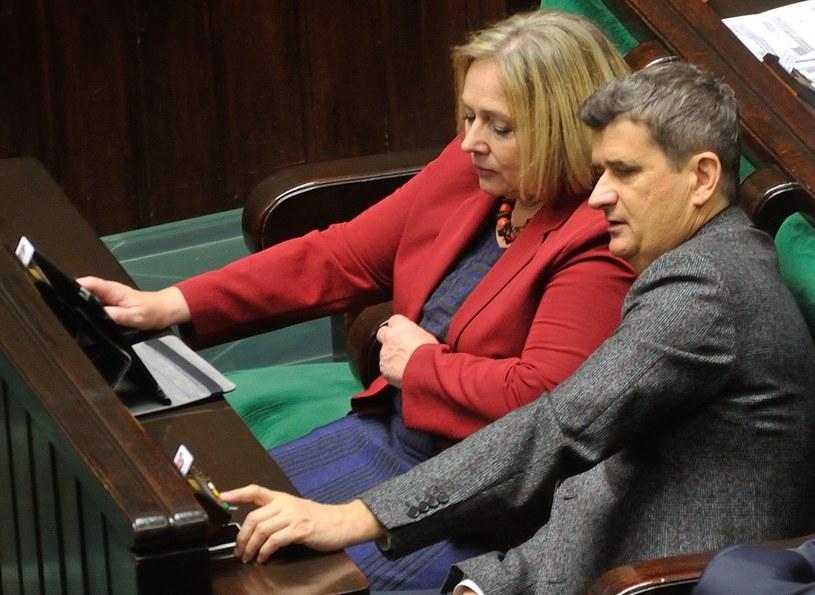 Wanda Nowicka i Janusz Palikot /Witold Rozbicki /East News