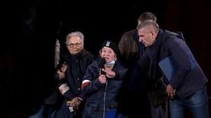 Wanda Traczyk-Stawska do kontrmanifestantów: Milcz głupi chłopie, chamie skończony