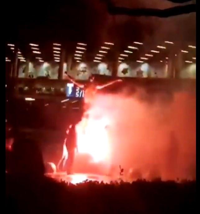 Wandale zapalili pomnik Zlatana Ibrahimovicia /