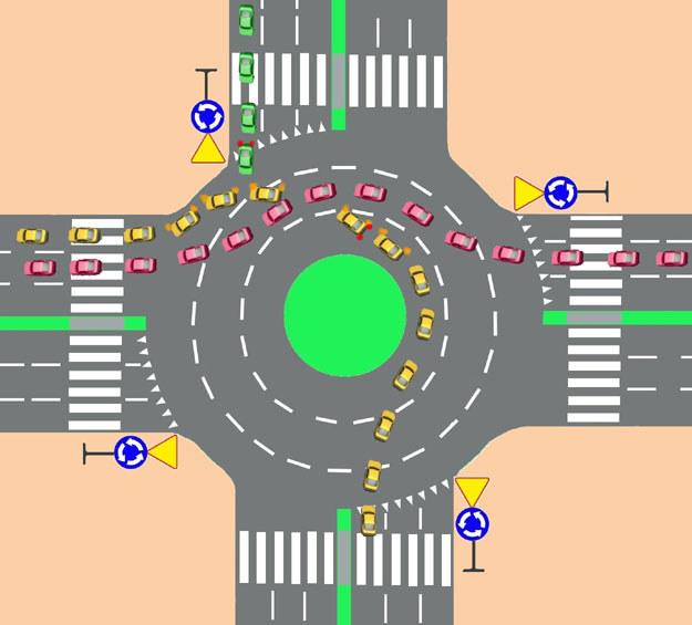 Wariant II - jazda lewym pasem, i zmiana pasa ruchu na obwiedni na pas prawy (lub środkowy) /INTERIA.PL