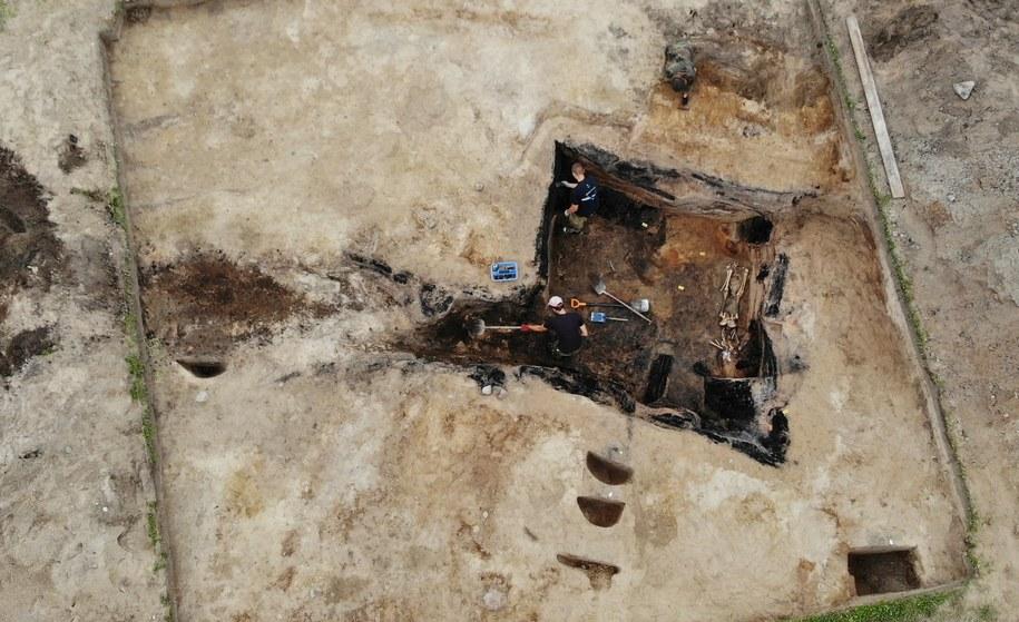 Warmińskie Pompeje wciąż zaskakują. Archeolodzy znaleźli szkielet z 1354 roku /Piotr Bułakowski /RMF FM