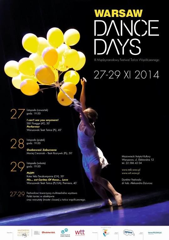 """""""Warsaw Dance Days. Międzynarodowy Festiwal Tańca Współczesnego"""" odbędzie się już po raz trzeci w dniach 27-29 listopada /materiały prasowe"""