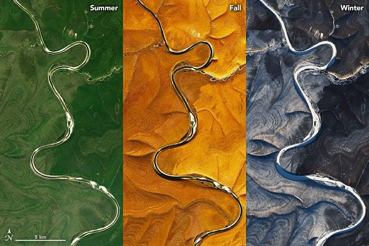 Warstwowe ułożenie ziemi jest najlepiej widoczne zimą /NASA