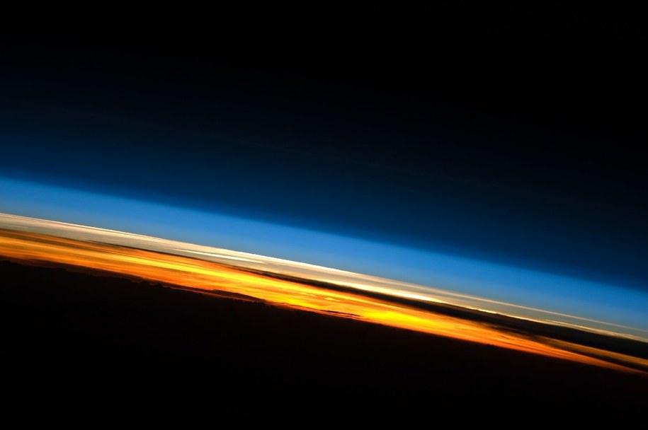 Warstwy atmosfery widoczne z Międzynarodowej Stacji Kosmicznej /NASA /Materiały prasowe