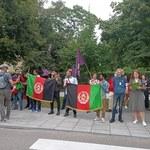 Warszawa: Demonstracja Afgańczyków. Domagali się wpuszczenia migrantów do Polski