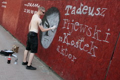 Warszawa: Graffiti na cześć powstańców