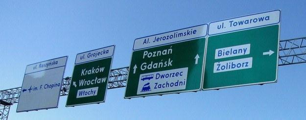 Warszawa jest źle oznakowana /RMF
