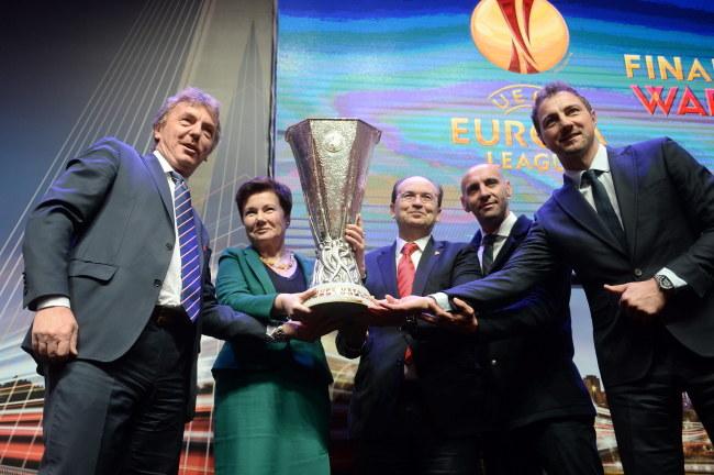Warszawa już gotowa na finał piłkarskiej Ligi Europy /Bartłomiej Zborowski /PAP