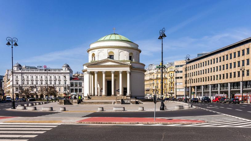 Warszawa, Kościół św. Aleksandra na Placu Trzech Krzyży / Paweł Szczepański  /123RF/PICSEL