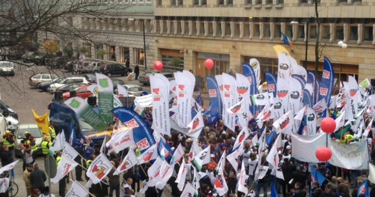 Warszawa: Manifestacja w ramach europejskiego dnia protestu