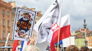 Warszawa: Obywatelskie zgromadzenie narodowe przed kościołem św. Anny