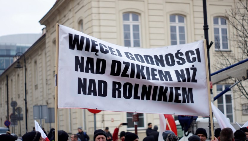 Warszawa: Protest rolników