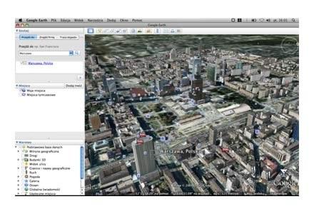 Warszawa w 3D w Google Earth /Źródło: Dziennik Internautów