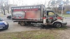 Warszawa: W nocy spłonęła furgonetka z hasłami antyaborcyjnymi