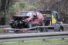 Warszawa. Wypadek na Wisłostradzie