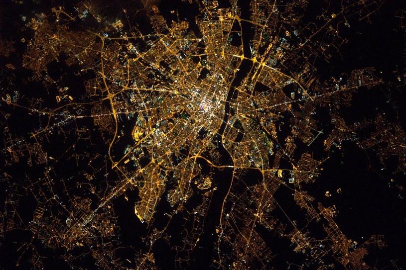 Warszawa z ISS - 25 stycznia 2017. Fot. Thomas Pesquet, ESA /materiały prasowe