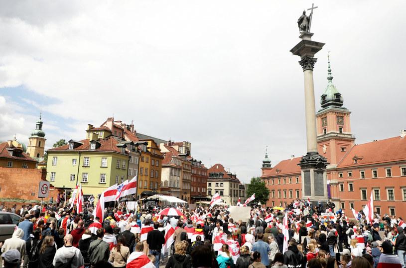 Warszawska Akcja Solidarnościowa z Białorusią /Jakub Kaminski/East News /East News