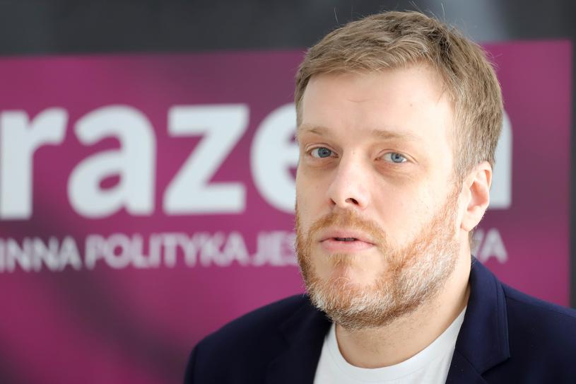 Warszawską listę otwiera Adrian Zandberg /Tomasz Kudala /East News