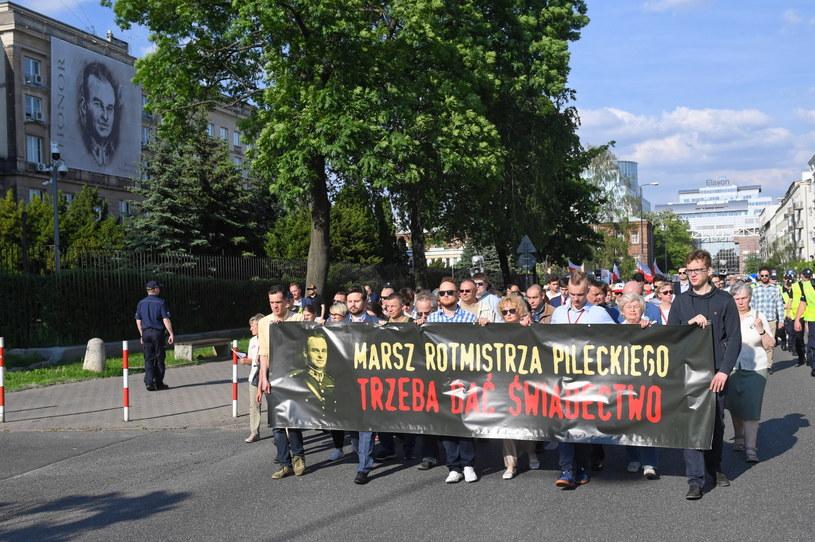 Warszawski Marsz Pileckiego w 71. rocznicę śmierci rotmistrza / Radek Pietruszka   /PAP