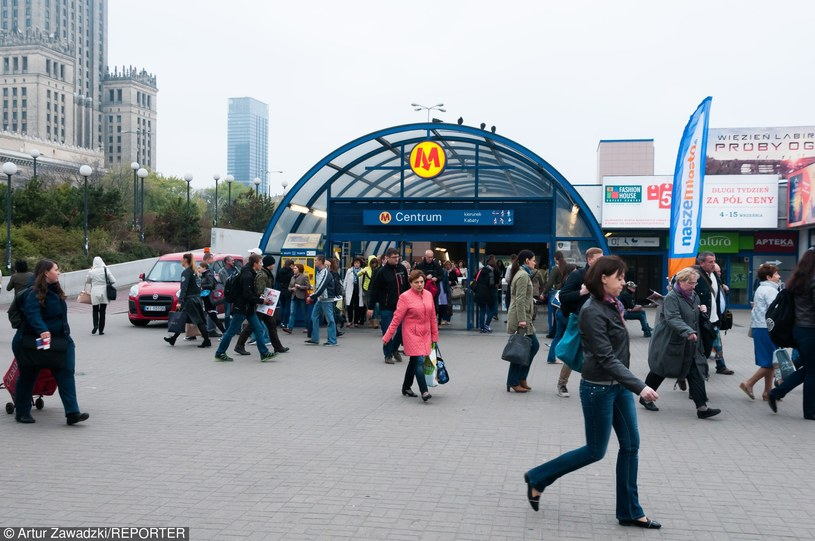 Warszawskie metro, zdj. ilustracyjne /Artur Zawadzki /Reporter