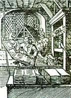 Warsztat drukarski z XVI w. /Encyklopedia Internautica