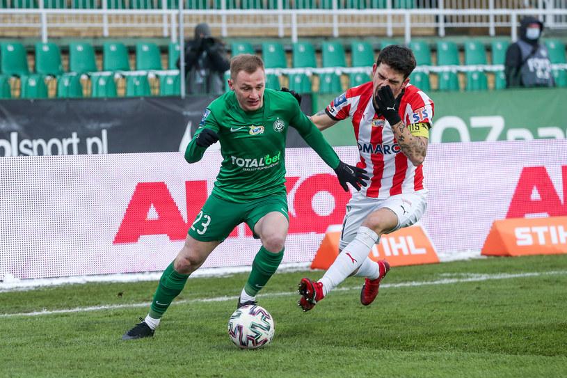 Warta Poznan w meczu ligowym z Cracovią Kraków /Fot. Jakub Piasecki /Newspix