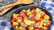 Warzywa smażone z kiełbaską