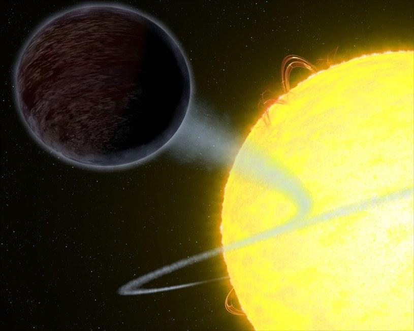 WASP-12b - tak można sobie wyobrażać planetę czarną jak asfalt /materiały prasowe