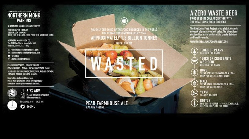 Wasted - etykieta piwa /materiały prasowe