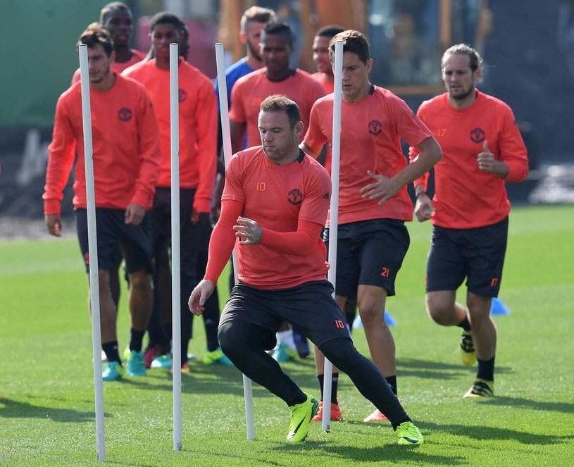 Wayne Rooney na treningu Manchesteru United /AFP