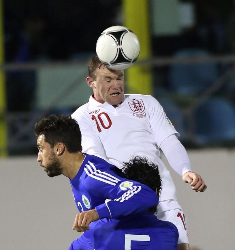 Wayne Rooney, piłkarz reprezentacji Anglii podczas meczu z San Marino /PAP/EPA