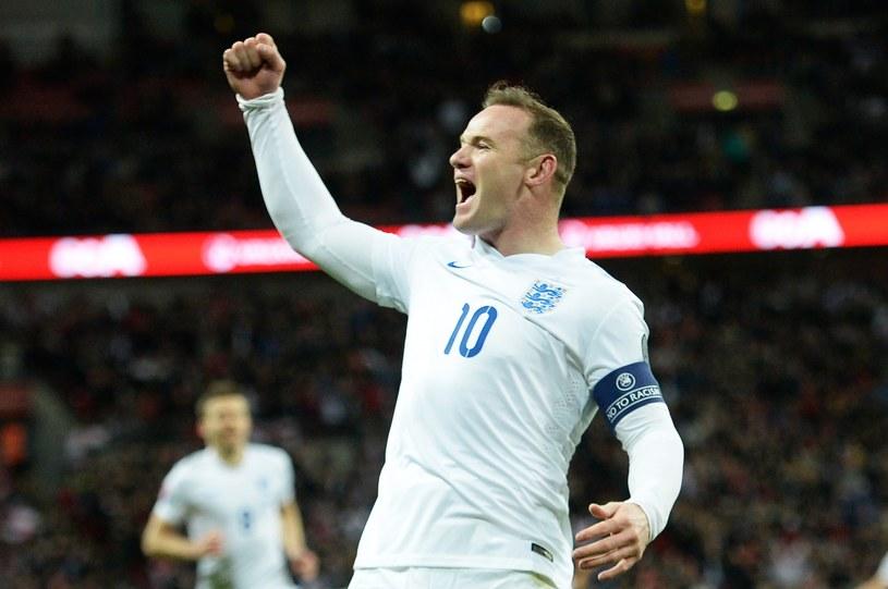 Wayne Rooney świętuje bramkę dla Anglii /PAP/EPA