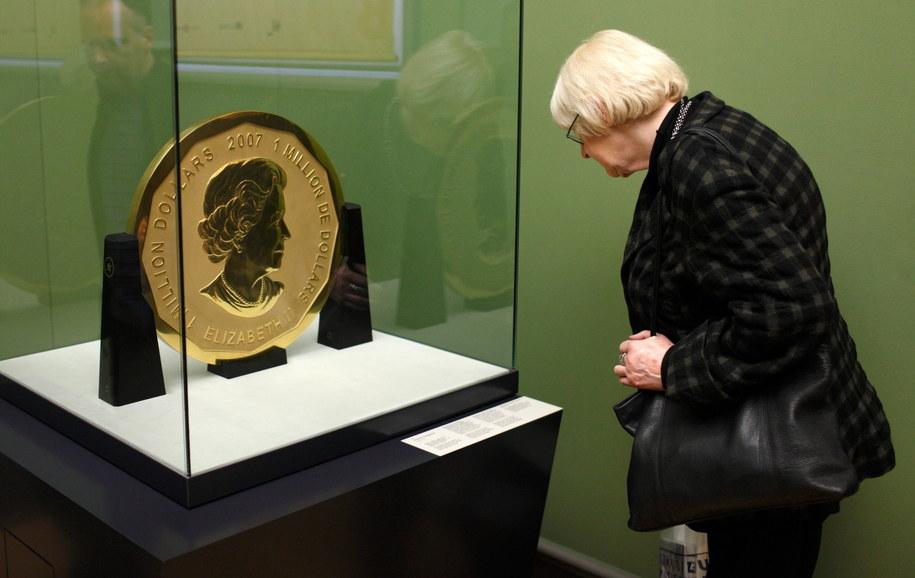 Ważąca 100 kg złota moneta 'Big Maple Leave' została skradzione z Bodemuseum /Marcel Mettelsiefen /PAP/EPA