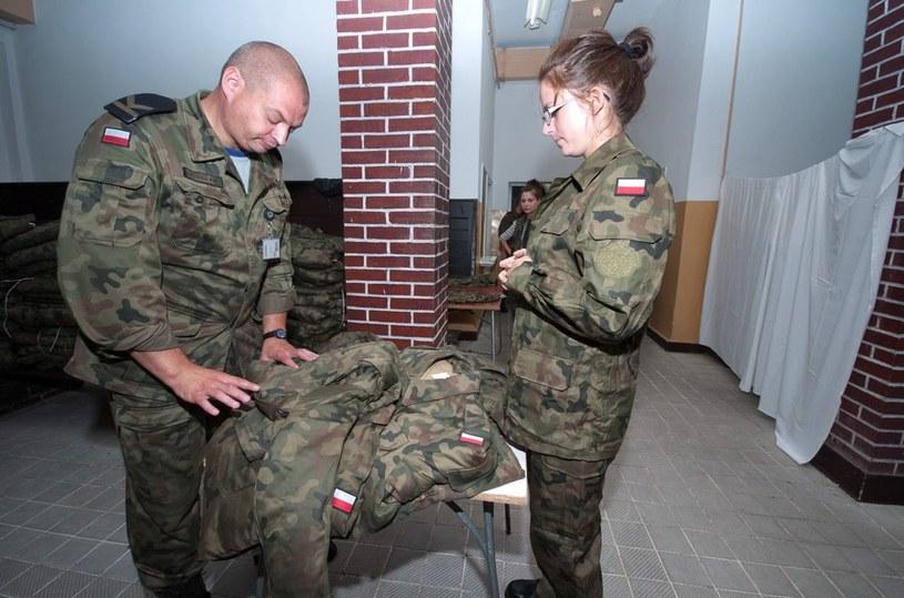 Wcielenie kobiet do Narodowych Sił Rezerwowych w Centrum Szkolenia Marynarki Wojennej w Ustce /Hubert Bierndgarski /Reporter