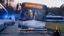 Wcisnął się przed trolejbus i gwałtownie zahamował. Ale twierdzi, że jest niewinny