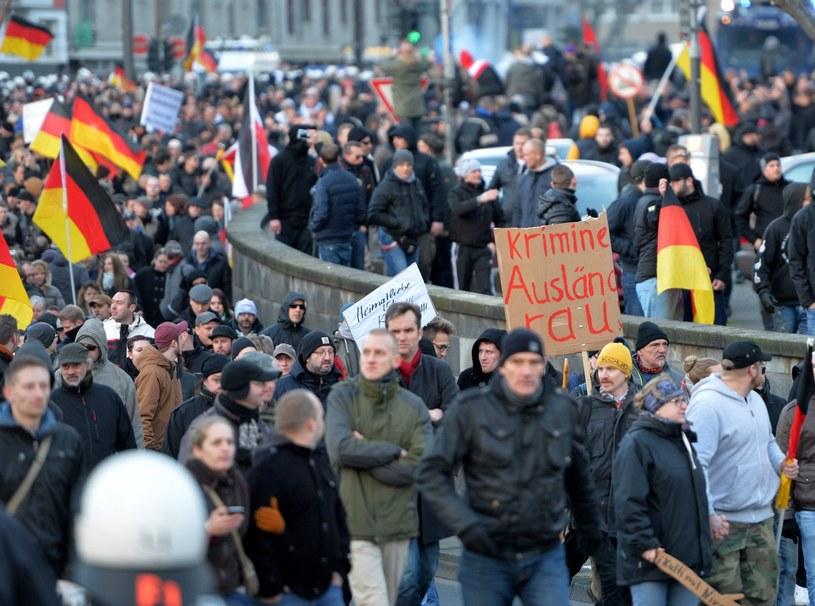 Wcześniej przez Kolonię przeszli demonstranci /EPA/MONIKA SKOLIMOWSKA /PAP/EPA