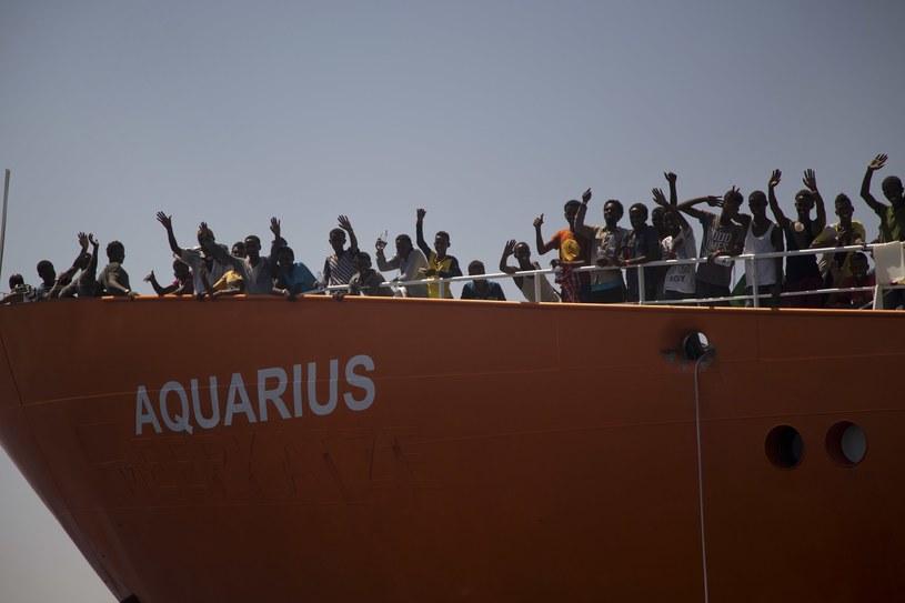 """Wcześniej Włochy nie wpuściły do portu statku """"Aquarius"""" /AP Photo/Emilio Morenatti /AFP"""