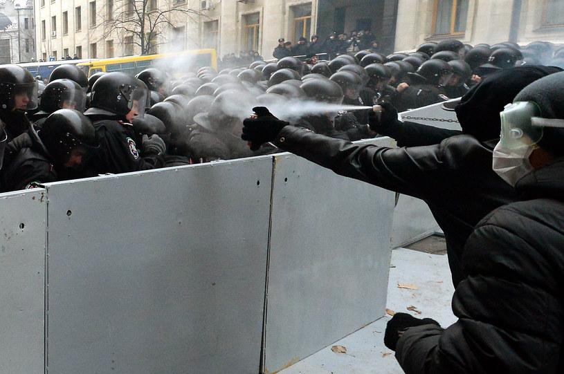 Wczorajsze demonstracje w Kijowie /AFP