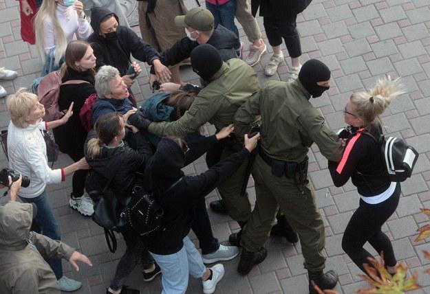 Wczorajsze protesty na Białorusi /STRINGER /PAP/EPA
