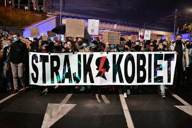 Wczorajszy protest we Wrocławiu / Maciej Kulczyński    /PAP