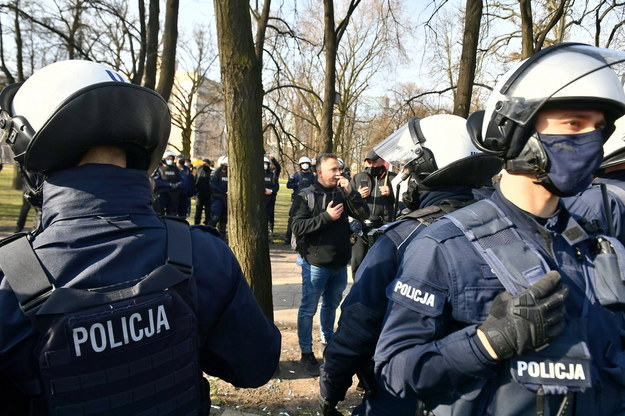 Wczorajszy protest /Andrzej Lange /PAP