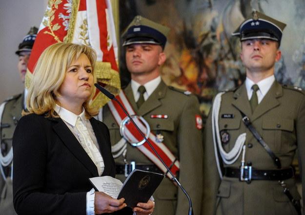Wdowa po dowódcy Sił Powietrznych gen. Andrzeju Błasiku - Ewa Błasik /Marcin Obara /PAP