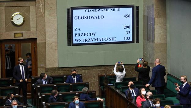 We wtorek Sejm przegłosował ratyfikację decyzji o zwiększeniu zasobów własnych Unii Europejskich /Rafał Guz /PAP