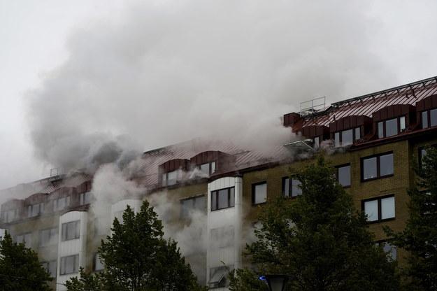 """Według policji """"niejasne jest źródło detonacji"""" /BJORN LARSSON ROSVALL/TT SWEDEN OUT /PAP/EPA"""