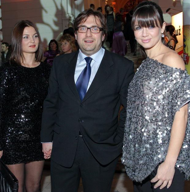 Węglarczyk z żoną i Kingą Rusin, fot. Paweł Przybyszewski  /MWMedia