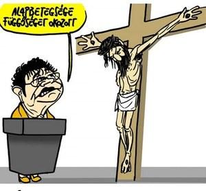 Węgry: Sąd uznał dziennik winnym w związku z karykaturą przedstawiającą Jezusa