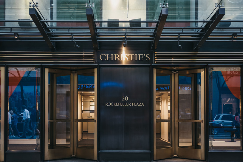 Wejście do domu aukcyjnego Christie's w Nowym Jorku. /123RF/PICSEL