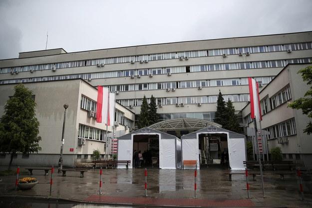 Wejście do Sądu Okręgowego w Krakowie /Łukasz Gągulski /PAP