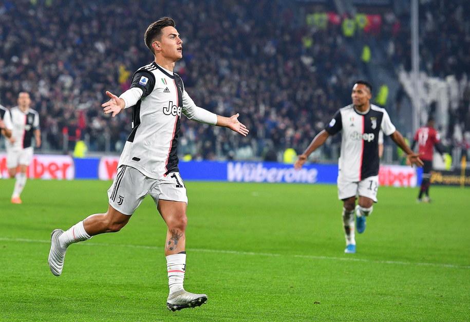 Wejście Paulo Dybaly okazało się kluczowe dla wygranej Juventusu /ALESSANDRO DI MARCO  /PAP/EPA