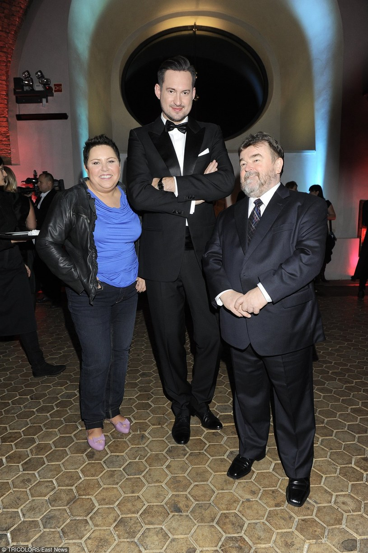 Wellman z Prokopem i Miszczakiem na balu TVN /- /East News
